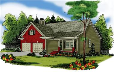3-Bedroom, 1592 Sq Ft Ranch Home Plan - 104-1096 - Main Exterior
