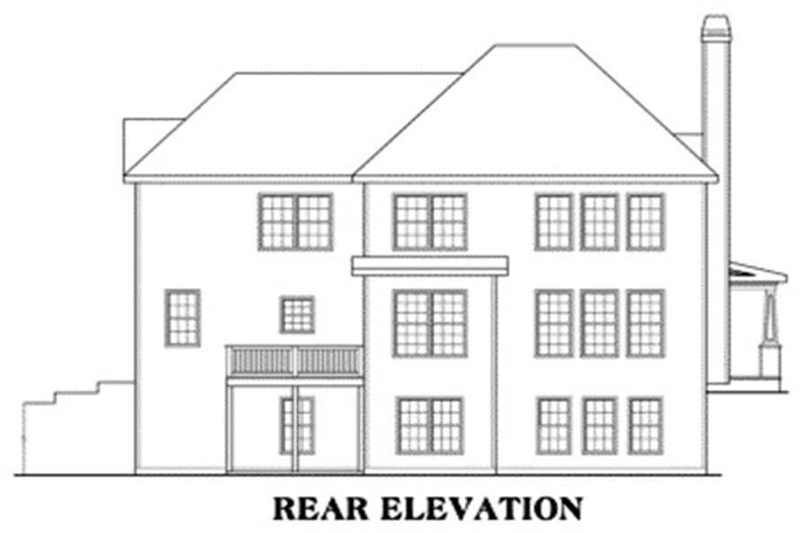 House Plan Oakleigh Rear Elevation
