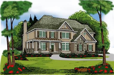 4-Bedroom, 2633 Sq Ft Country House Plan - 104-1097 - Front Exterior