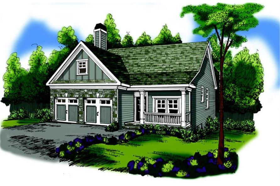 Home Plan Rendering of this 3-Bedroom,1592 Sq Ft Plan -104-1098
