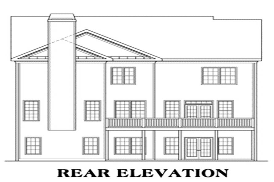 House Plan Newhaven Rear Elevation