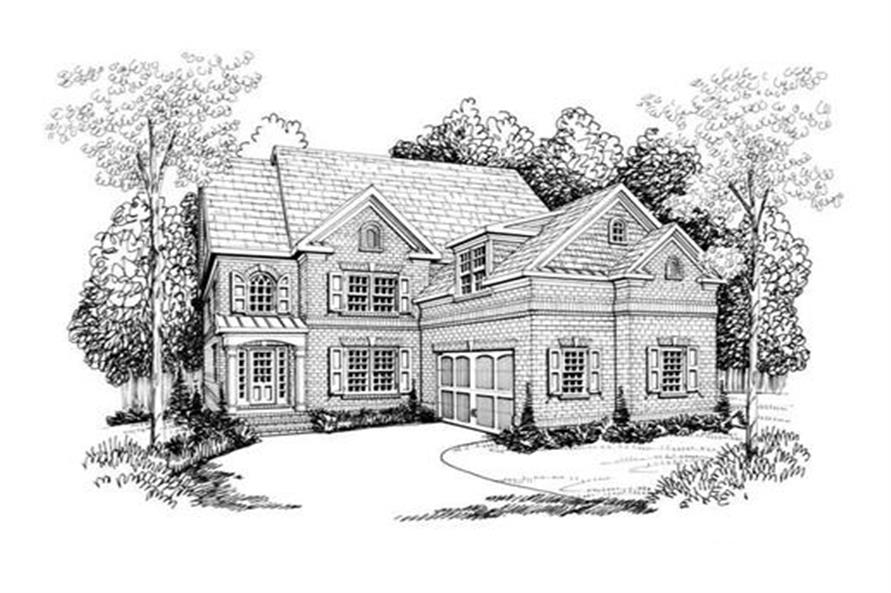Front Elevation of this 4-Bedroom,3249 Sq Ft Plan -3249