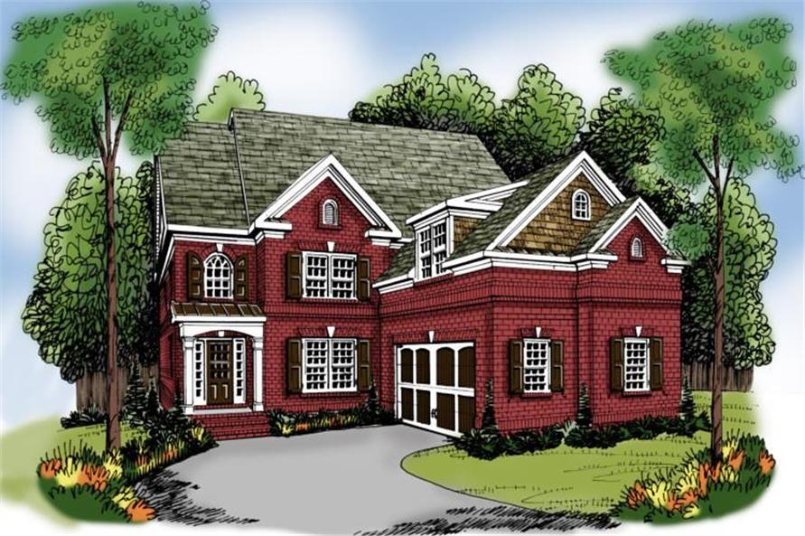 4-Bedroom, 3249 Sq Ft Traditional House Plan - 104-1099 - Front Exterior