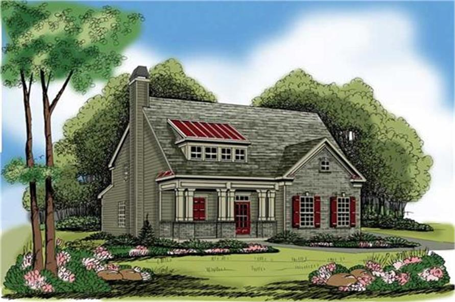 Home Plan Rendering of this 4-Bedroom,2021 Sq Ft Plan -104-1100