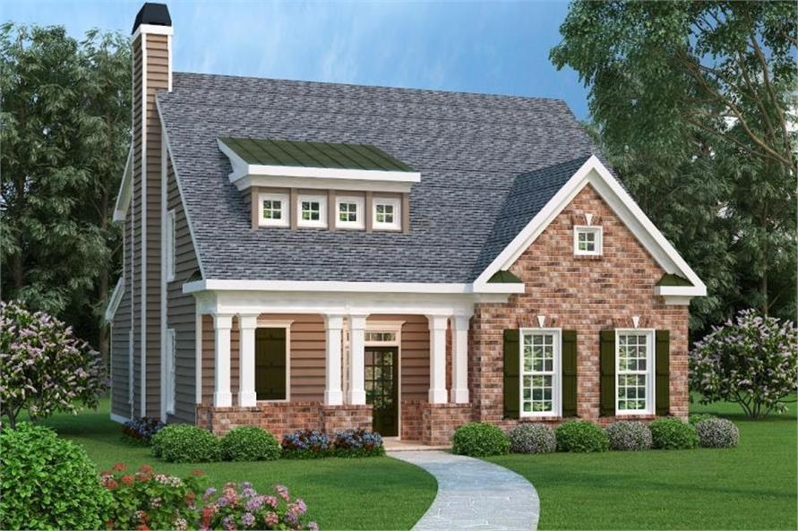 4-Bedroom, 2021 Sq Ft Southern Home Plan - 104-1100 - Main Exterior