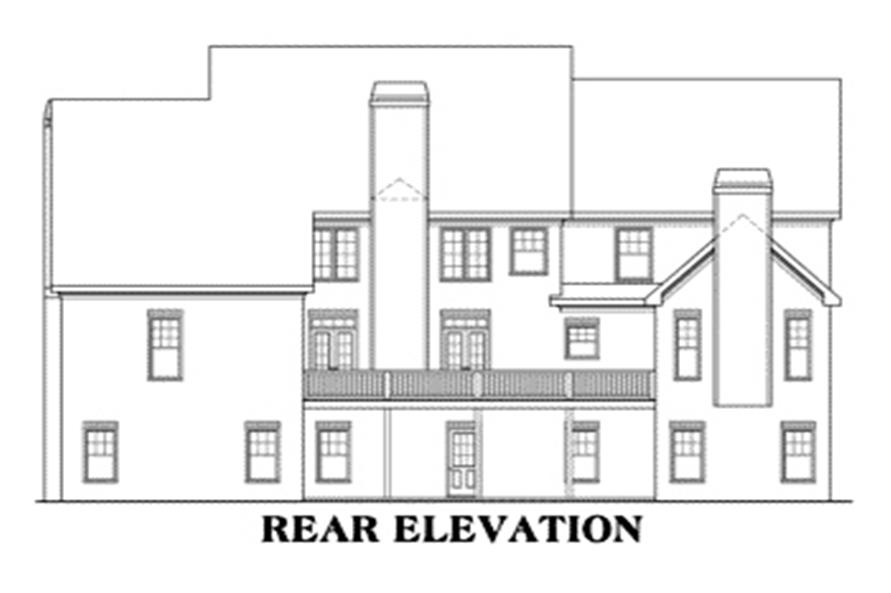Home Plan Rear Elevation of this 5-Bedroom,4139 Sq Ft Plan -104-1101