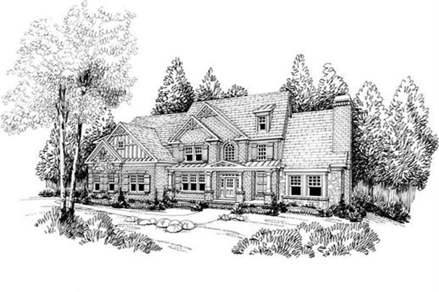 Front Elevation of this 5-Bedroom,4139 Sq Ft Plan -4139