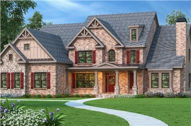 5-Bedroom, 4139 Sq Ft Luxury House Plan - 104-1101 - Front Exterior