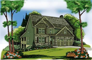 4-Bedroom, 2339 Sq Ft Craftsman House Plan - 104-1102 - Front Exterior