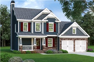 3-Bedroom, 1496 Sq Ft Country House Plan - 104-1103 - Front Exterior