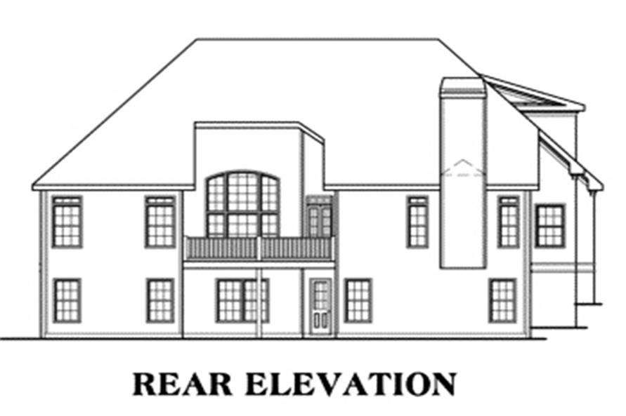 Home Plan Rear Elevation of this 3-Bedroom,2397 Sq Ft Plan -104-1104