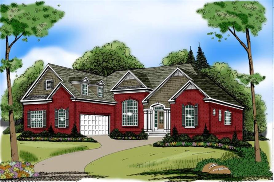 3-Bedroom, 2397 Sq Ft Bungalow Home Plan - 104-1104 - Main Exterior