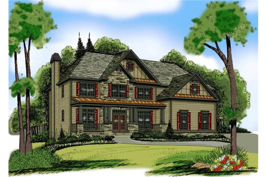 Home Plan Rendering of this 5-Bedroom,3919 Sq Ft Plan -3919