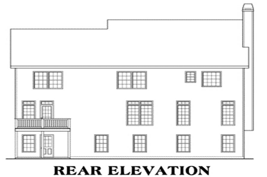 House Plan Kendrick Rear Elevation
