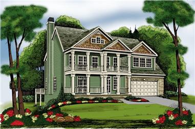 4-Bedroom, 2739 Sq Ft Craftsman House Plan - 104-1106 - Front Exterior