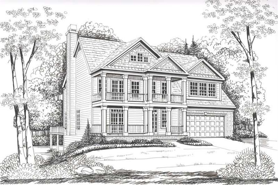 Home Plan Rendering of this 4-Bedroom,2739 Sq Ft Plan -104-1106