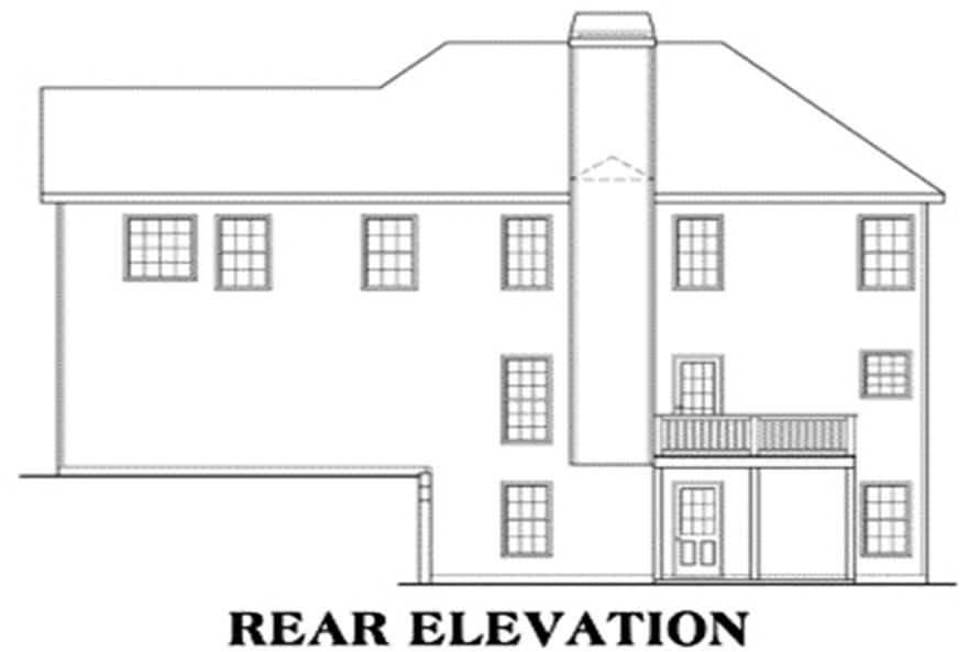 House Plan Ellington Rear Elevation