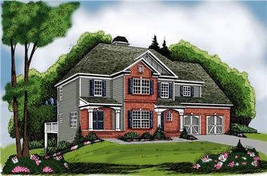 3-Bedroom, 1819 Sq Ft Craftsman Home Plan - 104-1107 - Main Exterior