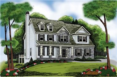 4-Bedroom, 2752 Sq Ft Southern Home Plan - 104-1108 - Main Exterior