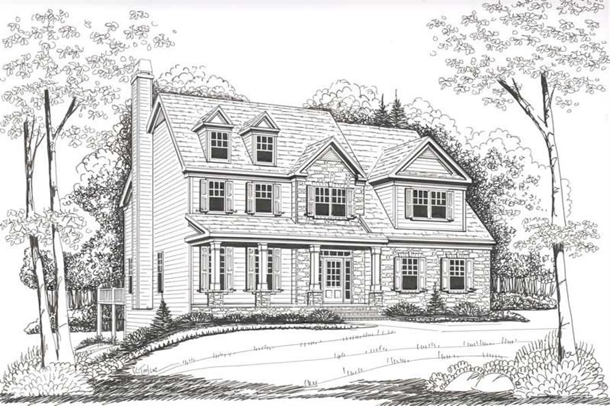 Front Elevation of this 4-Bedroom,2752 Sq Ft Plan -2752