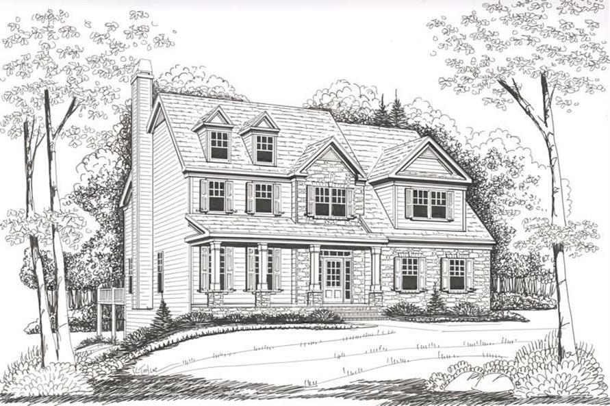 Home Plan Rendering of this 4-Bedroom,2752 Sq Ft Plan -104-1108