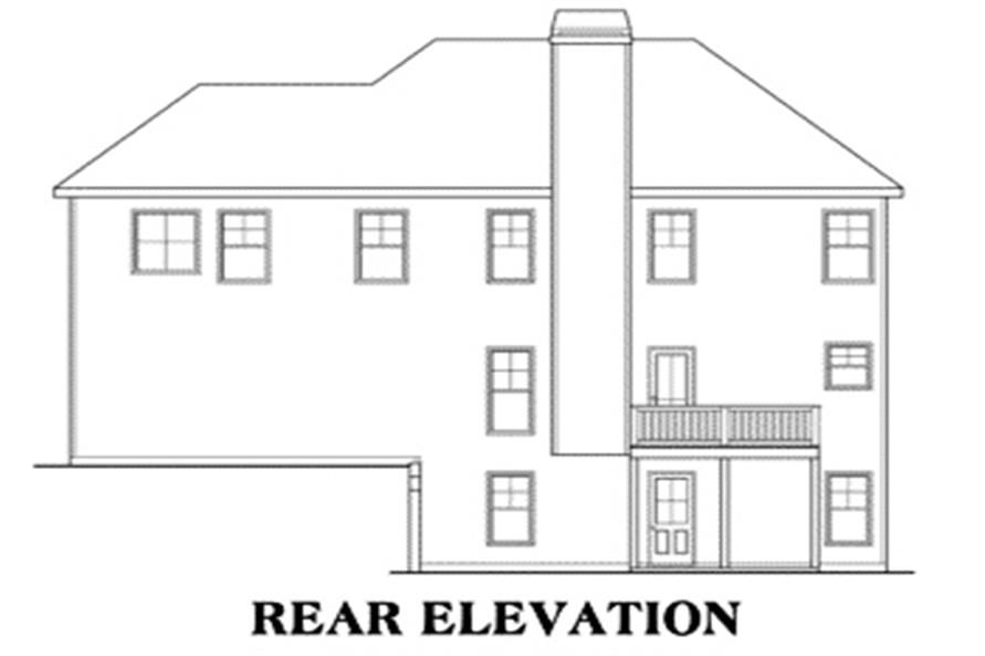 House Plan Manchester Rear Elevation