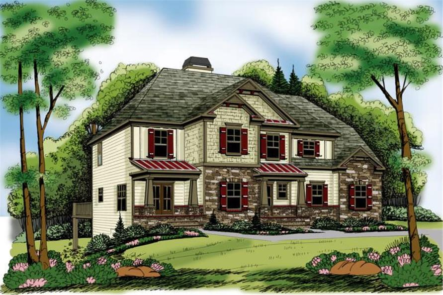 3-Bedroom, 1819 Sq Ft Craftsman Home Plan - 104-1109 - Main Exterior
