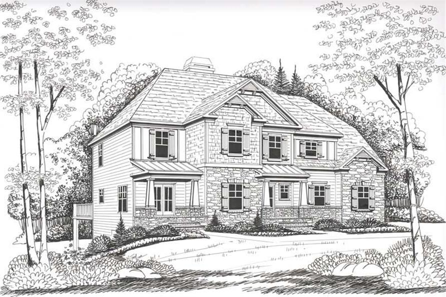 Front Elevation of this 3-Bedroom,1819 Sq Ft Plan -1819