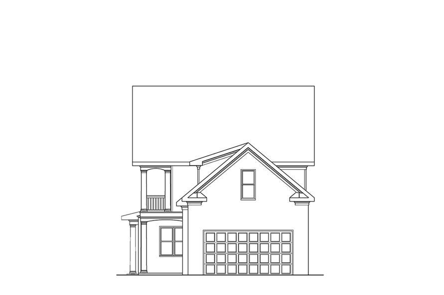 104-1110: Home Plan Rear Elevation