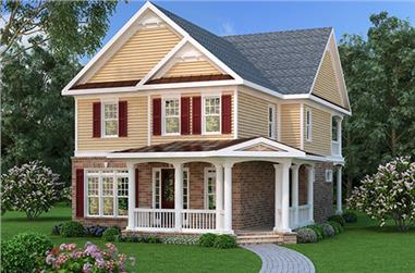 3-Bedroom, 2698 Sq Ft Traditional Home Plan - 104-1110 - Main Exterior