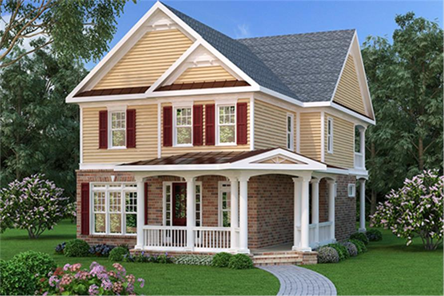 Front elevation of Traditional home (ThePlanCollection: House Plan #104-1110)