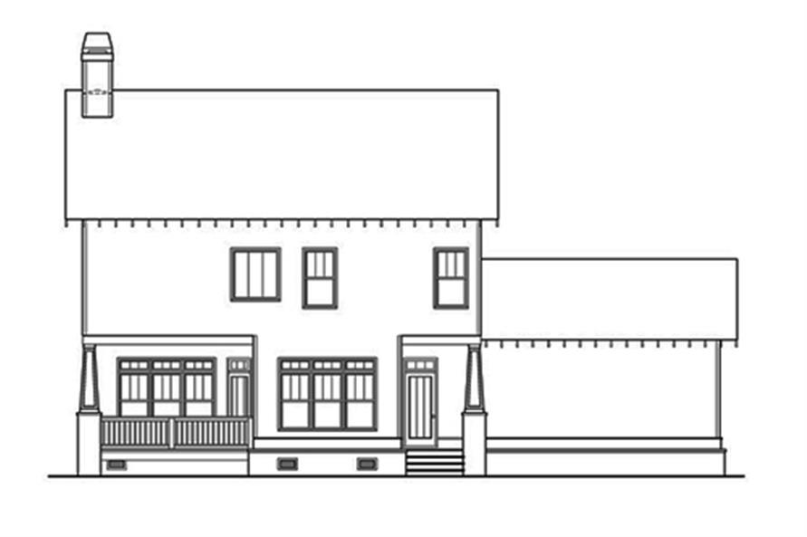 104-1111: Home Plan Rear Elevation