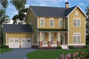 4-Bedroom, 3033 Sq Ft Country Home Plan - 104-1111 - Main Exterior