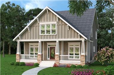 4-Bedroom, 2707 Sq Ft Craftsman House Plan - 104-1112 - Front Exterior