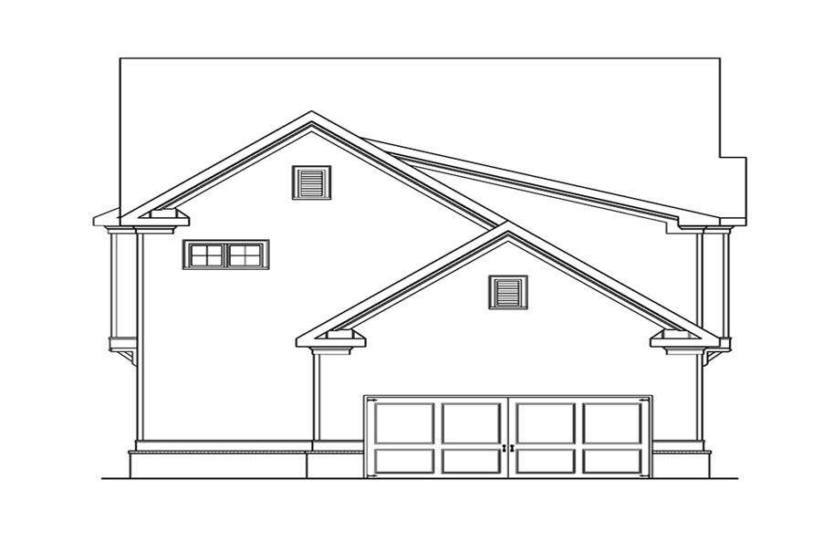 104-1113: Home Plan Rear Elevation