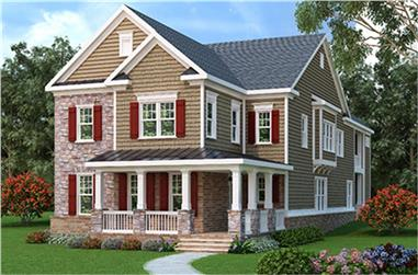 4-Bedroom, 4525 Sq Ft Traditional House Plan - 104-1113 - Front Exterior