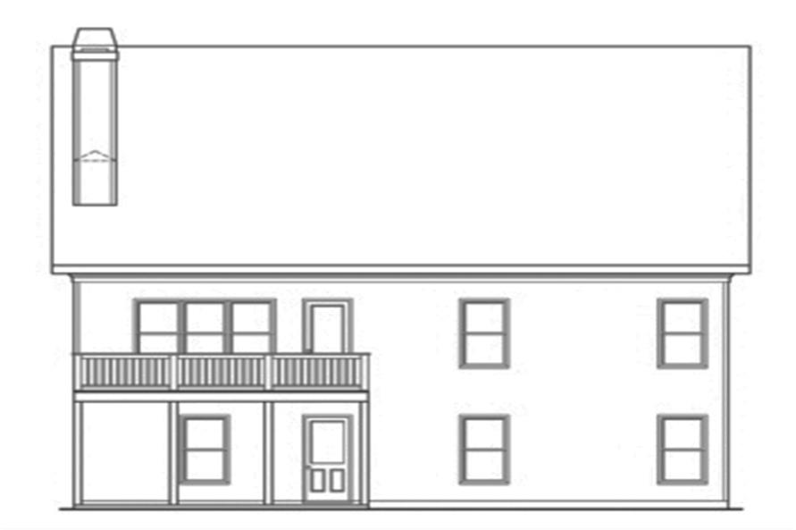 104-1114: Home Plan Rear Elevation