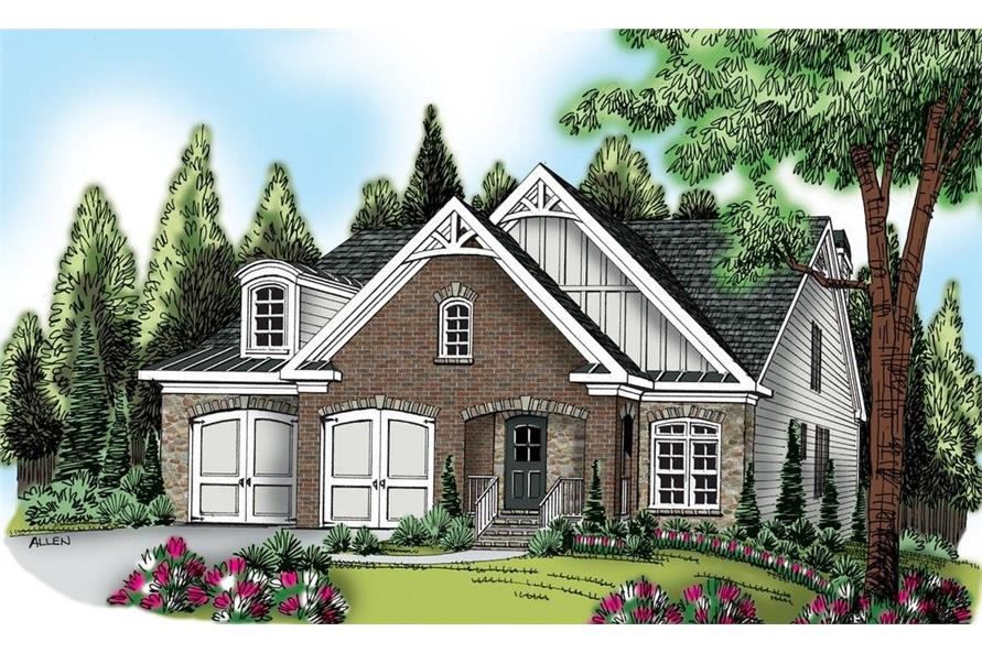 Front elevation of Traditional home (ThePlanCollection: House Plan #104-1114)