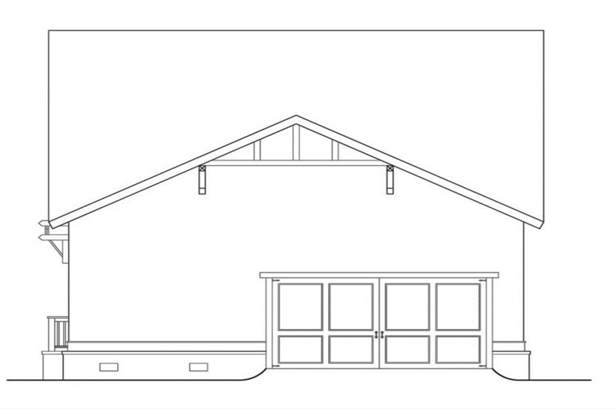 104-1115: Home Plan Rear Elevation