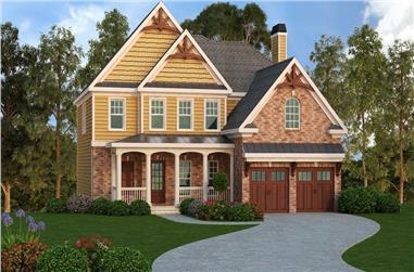 4-Bedroom, 2926 Sq Ft Craftsman House Plan - 104-1116 - Front Exterior