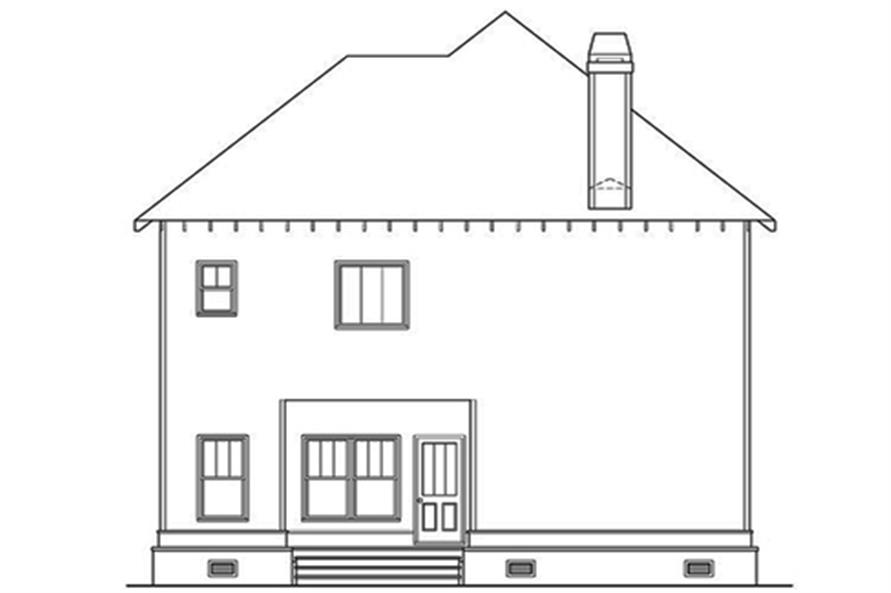 104-1117: Home Plan Rear Elevation