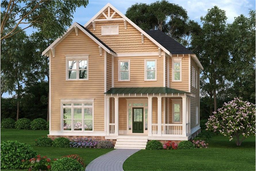 Front elevation of Country home (ThePlanCollection: House Plan #104-1117)