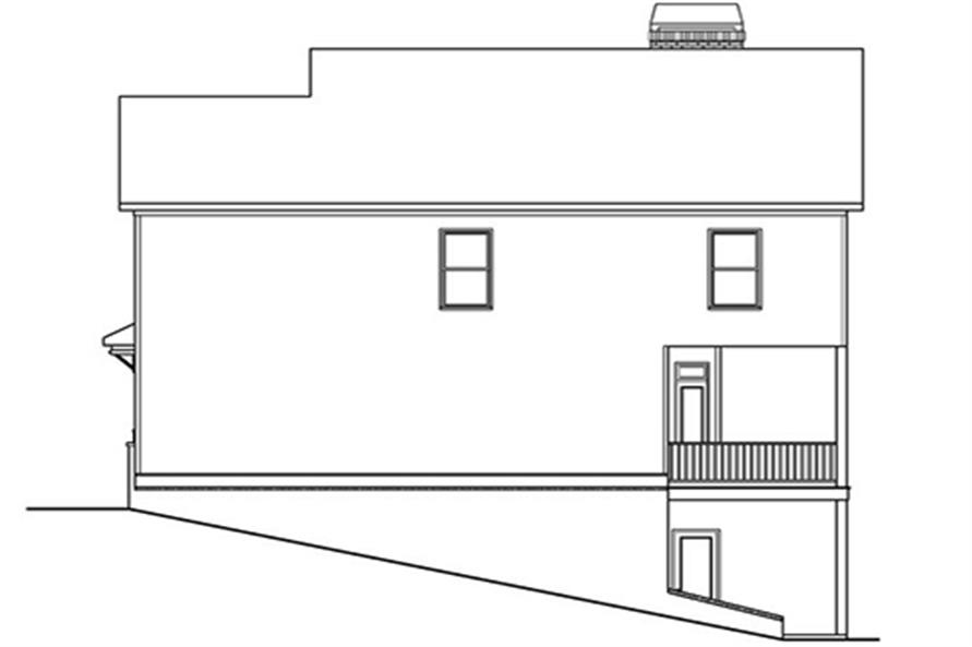 104-1118: Home Plan Rear Elevation