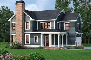 4-Bedroom, 2369 Sq Ft Country House Plan - 104-1118 - Front Exterior