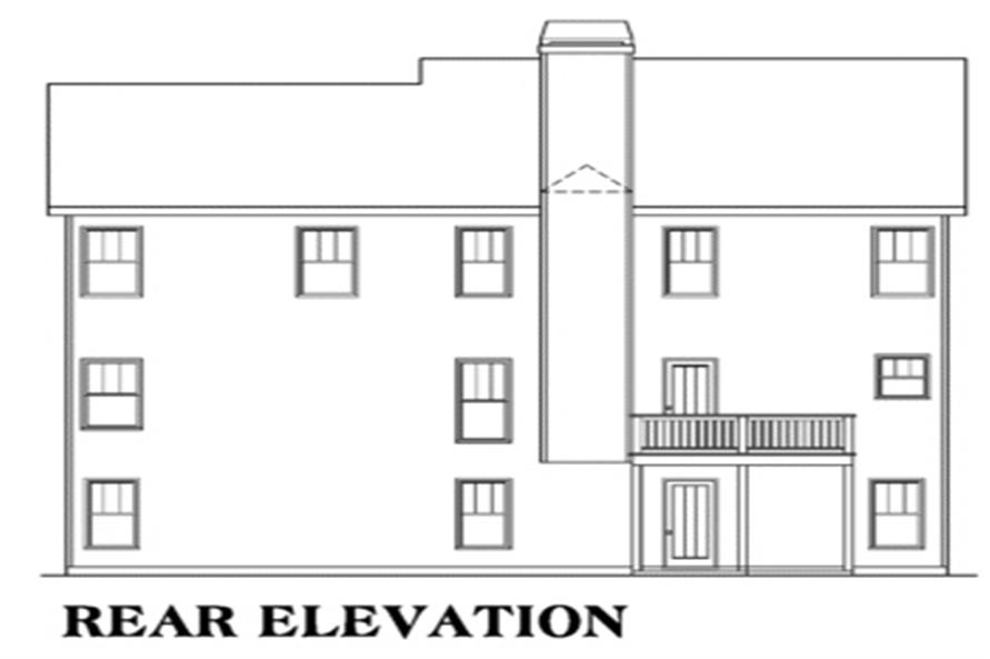 104-1121: Home Plan Rear Elevation