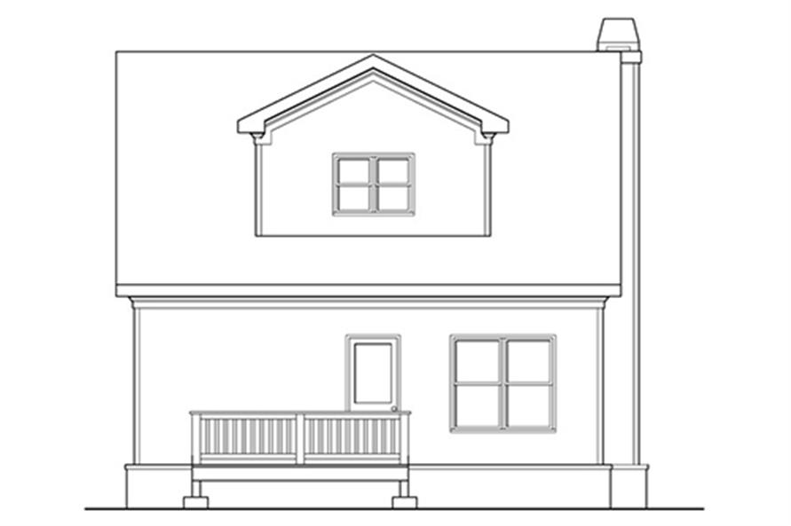 104-1122: Home Plan Rear Elevation