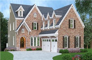 5-Bedroom, 3922 Sq Ft European Home Plan - 104-1123 - Main Exterior