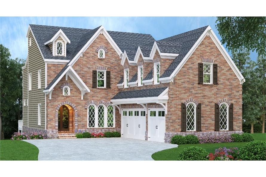 5-Bedroom, 3922 Sq Ft European Home Plan - 104-1123 - Main Exterior