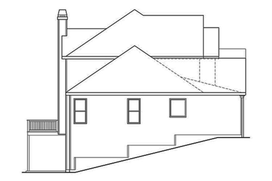 104-1124: Home Plan Rear Elevation