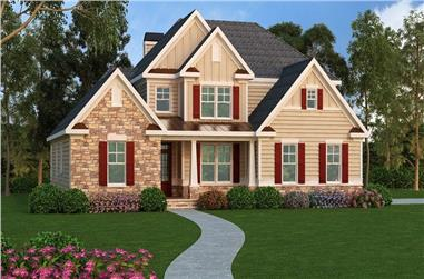 4-Bedroom, 3290 Sq Ft Southern Home Plan - 104-1124 - Main Exterior